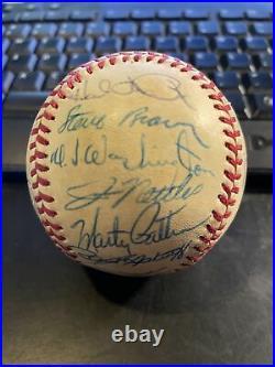 1979 KANSAS CITY ROYALS Team Signed Baseball George BRETT Whitey HERZOG COA 7/13