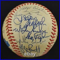 1985 Kansas City Royals World Series Champs Team Signed WS Baseball PSA DNA COA