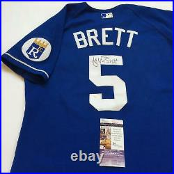 1990's George Brett Signed Authentic Kansas City Royals Russell Jersey JSA COA