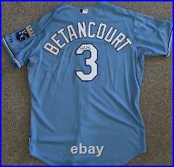 2010 Yuniesky Betancourt game used Kansas City Royals jersey autographed