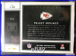 2017 Impeccable Indelible Ink Priest Holmes Auto #37/49 Kansas City Chiefs