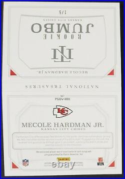 2019 National Treasures Mecole Hardman Auto 1/5 Tag Book Kansas City Chiefs Lot