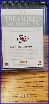 2019 National Treasures Patrick Mahomes Autograph 4/10 Kansas City Chiefs