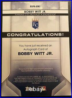 2020 Bowman Sterling #BSPA-BWJ Bobby Witt Jr Autograph Kansas City Royals