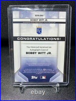 2020 Bowman Sterling Bobby Witt Jr On Card Auto #BSPA-BWJ Kansas City Royals
