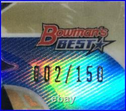 2020 Bowmans Best Bobby Witt Jr Rookie Auto 2/150 Kansas City Royals