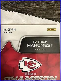 2020 Spectra Patrick Mahomes Auto /35 Kansas City Chiefs