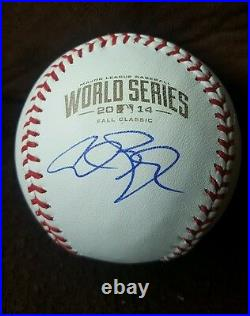 ALEX GORDON signed 2014 World Series Baseball KANSAS CITY ROYALS withCOA