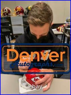 Alex Smith Autographed/Signed Kansas City Chiefs VSR4 Mini Helmet BAS 31742