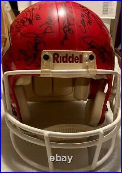 Autographed Riddell Helmet 1993 Kansas City Chiefs Derrick Thomas And 42 Members