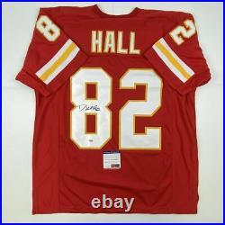 Autographed/Signed DANTE HALL Kansas City Red Football Jersey PSA/DNA COA Auto