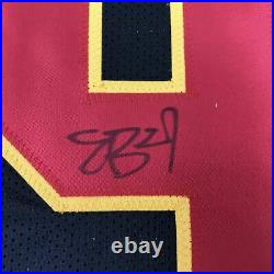 Autographed/Signed ERIC BERRY Kansas City Black Football Jersey PSA/DNA COA