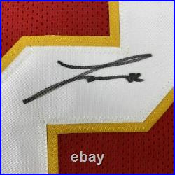 Autographed/Signed TYRANN MATHIEU Kansas City Red Football Jersey JSA COA Auto
