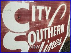 BIG! 4 foot Kansas City Southern KCS Logo Transpo Railroad Railway Sign Original