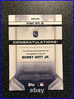 BOBBY WITT JR. 2020 Bowman Sterling Prospect AUTO RC KANSAS CITY ROYALS