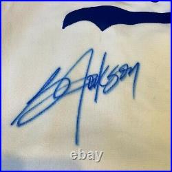 Beautiful Bo Jackson Signed 1989 Rookie Kansas City Royals Game Model Jersey PSA