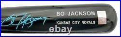 Bo Jackson Autographed Black Bat Kansas City Royals Beckett Bas Qr Stock #196974