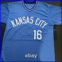 Bo Jackson Autographed Kansas City Royals Custom Baseball Jersey BAS COA