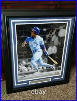 Bo Jackson Autographed Signed Framed 16x20 Photo Kansas City Royals PSA Y30663