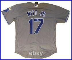 Bobby Witt Jr SIGNED #17 Kansas City Royals size XL gray jersey with JSA Hologram