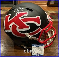 Clyde Edwards Helaire Signed Kansas City Chiefs AMP Full Size Helmet Beckett 2