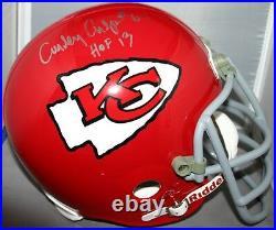 Curley Culp Signed Custom Facemask Full Size Helmet Kansas City Chiefs Hof13 Jsa