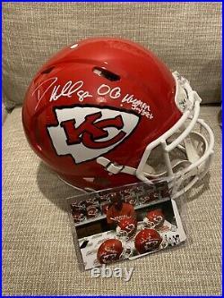 Dante Hall Signed Kansas City Speed Authentic Helmet OG Human Joystick