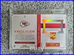 Demarcus Robinson Kansas City Chiefs TRUE 1/1 RC Auto & Relic Playbook card