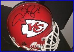 Derrick Thomas Kansas City Chiefs Hofer Hand Signed Mini Helmet In A Case withCOA