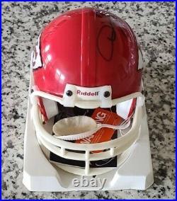 Derrick Thomas Signed Kansas City Chiefs Hofer Mini Helmet JSA LOA RARE