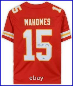 Framed Patrick Mahomes Kansas City Chiefs Autographed Nike Red Limited Jersey