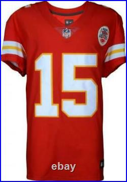 Framed Patrick Mahomes Kansas City Chiefs Autographed Red Nike Elite Jersey