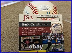 George Brett Signed Autographed Al Baseball Kansas City Royals Hof 99 Jsa Coa