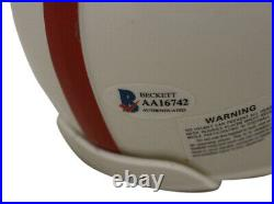 Hank Stram Autographed Kansas City Chiefs Authentic AFL Mini Helmet BAS 33565