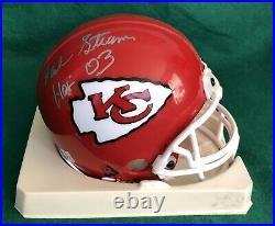 Hank Stram Autographed Kansas City Chiefs Mini Helmet