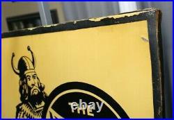 Holy Grailnourse Brand Oil Metal Signvikingoriginal Wood Framekansas City