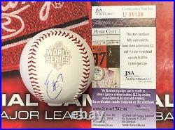 JSA Eric Hosmer Signed 2015 World Series Baseball COA Kansas City Royals KC