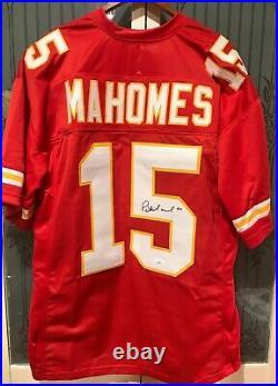 JSA PATRICK MAHOMES signed Kansas City Chiefs Football Jersey JSA LOA