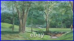 Jack O'hara (1921-2012) Original Watercolor Golf Leawood Kansas City Missouri