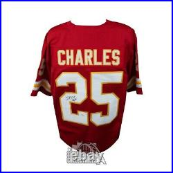 Jamaal Charles Autographed Kansas City Chiefs Custom Red Football Jersey JSA