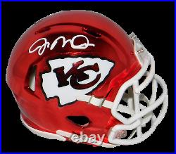 Joe Montana Autographed Kansas City Chiefs Chrome Speed Mini Helmet Beckett