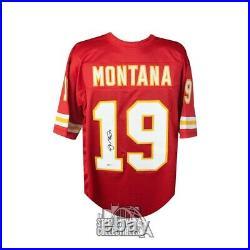 Joe Montana Autographed Kansas City Chiefs Custom Football Jersey BAS COA