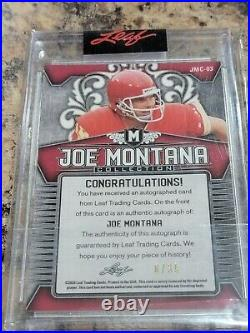 Joe Montana Leaf Encased Cracked Ice Auto Kansas City Chiefs