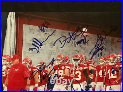 KANSAS CITY CHIEFS Autographed Autograph Signed 12x18 2016 TEAM Photo KELCE HILL