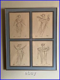 Kansas City Artist Arthur Kraft Four Signed Lithographs'The Seasons' Framed