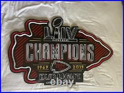 Kansas City Chiefs Bud Light LED Neon Super Bowl Champions Sign 1969 2019