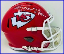 Kansas City Chiefs Christian Okoye Autographed Full Size Speed Rep JSA Authen