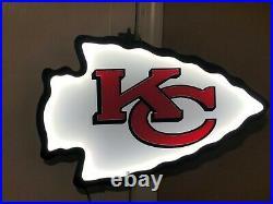Kansas City Chiefs Led Neon Bar Sign Kc Arrowhead Lighted Plexiglass Custom Art