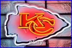 Kansas City Chiefs Light Lamp Man Cave 17x14 Neon Sign With HD Vivid Printing