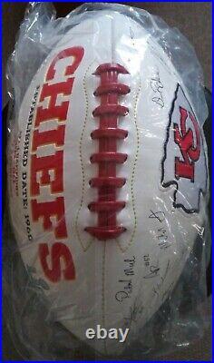 Kansas City Chiefs NFL Team Roster Signature Ball